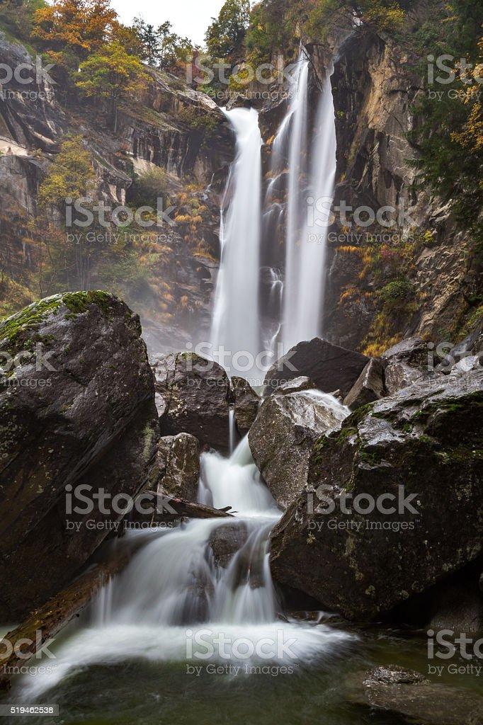 Passeirer waterfall, South Tyrol stock photo