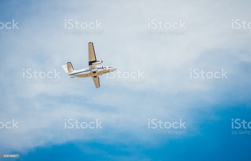 Passenger air travel stock photo