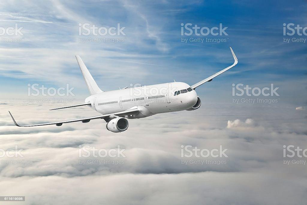 Passenger Aircraft Mid-air stock photo