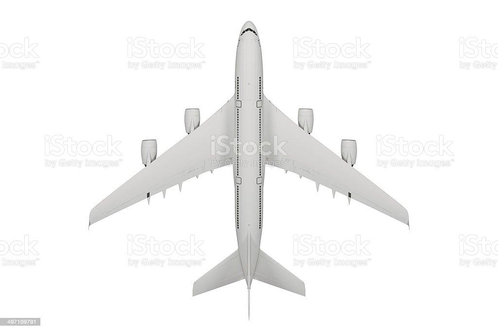 Passenger airplane isolated on white background stock photo