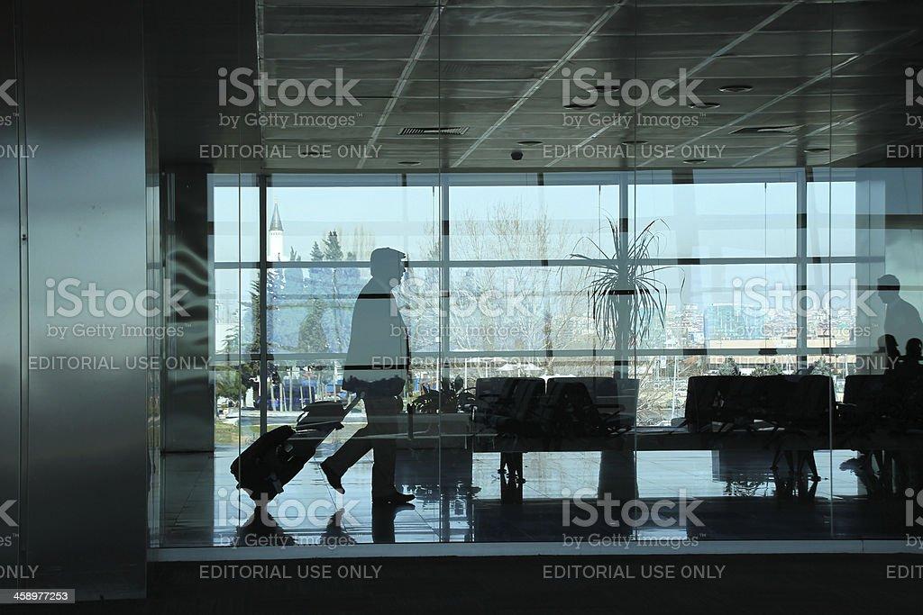 passenger airport stock photo