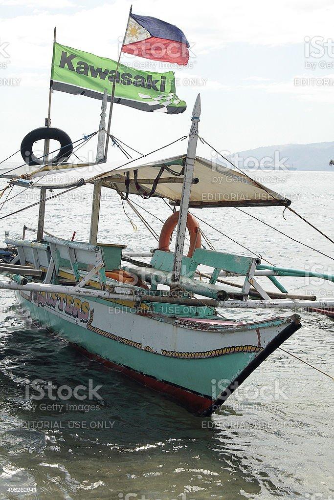 Posti barca, Filippine foto stock royalty-free