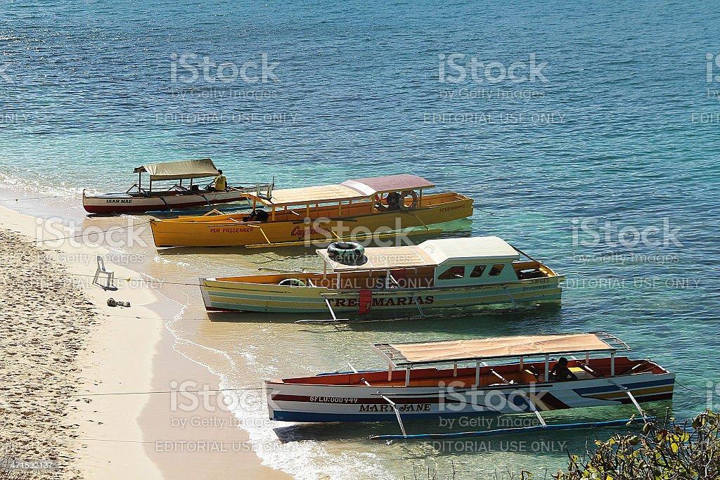 Passeggero imbarcazioni nelle Filippine foto stock royalty-free