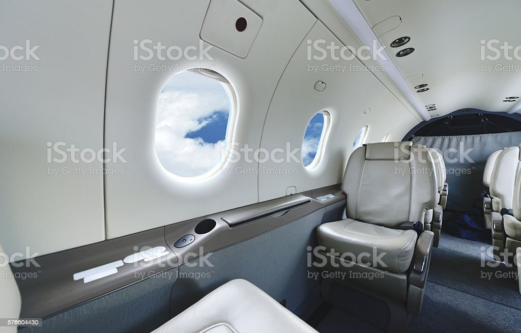 Passenger Cabin stock photo