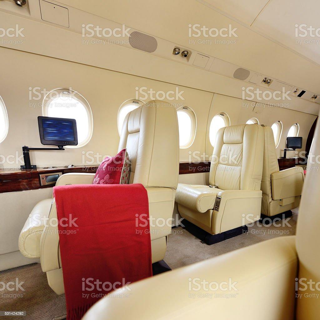 Passenger Cabin Seat stock photo