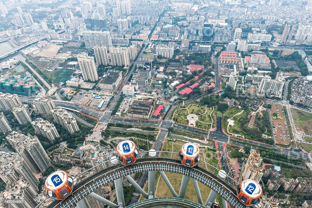 Passenger Car Above Guangzhou Canton China stock photo