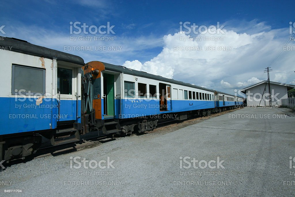 Passenger car for train no.52 stock photo