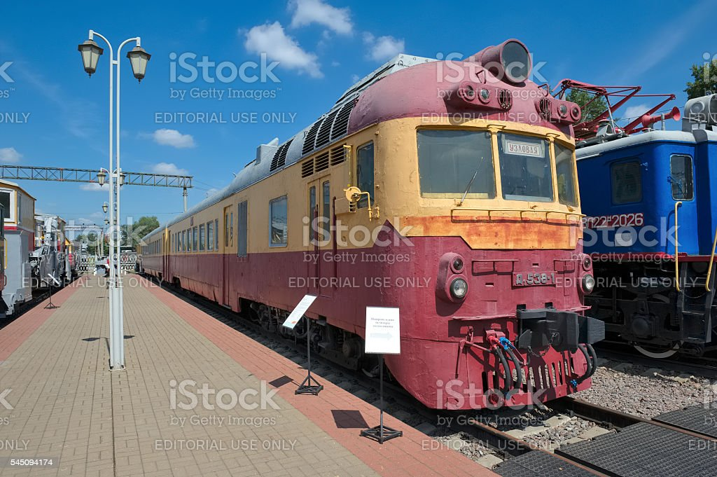 Passenger diesel train D1-538 stock photo