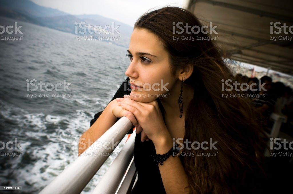 Passenger female royalty-free stock photo