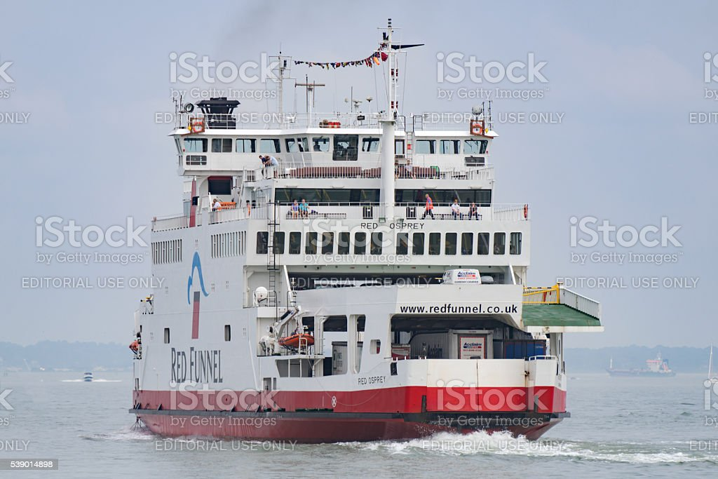 Passenger Ferry Red Osprey, Southampton, England, UK stock photo
