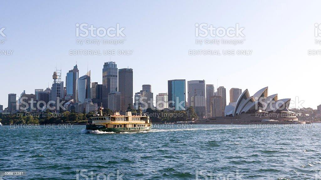 Passenger ferry sailing across Sydney Harbour stock photo
