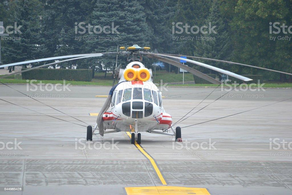 Passenger helicopter stock photo