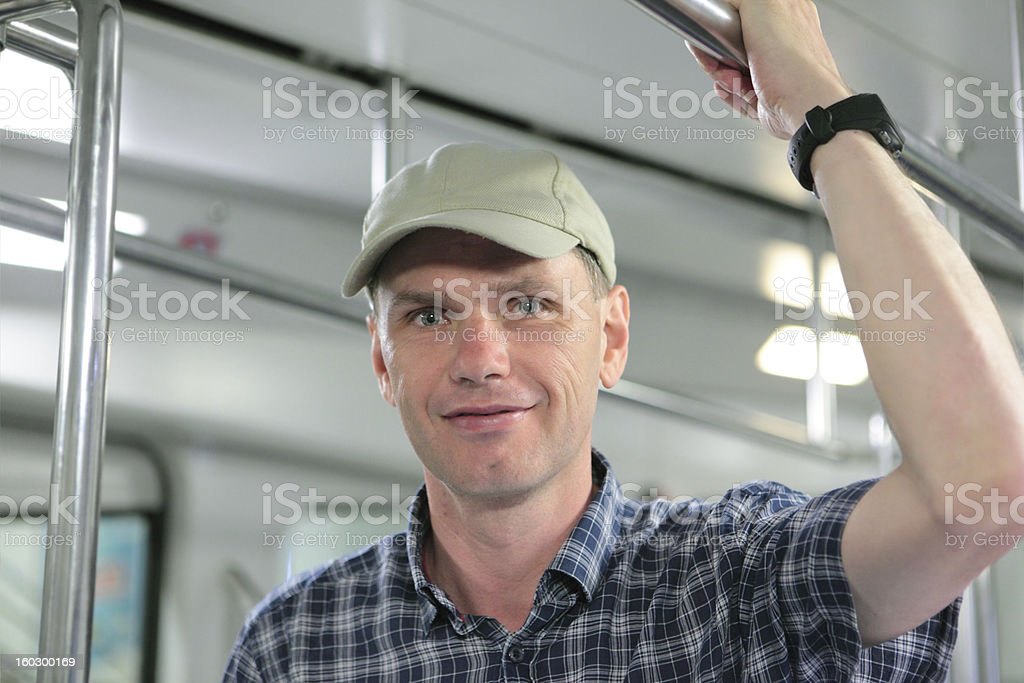 Passenger in a subway royalty-free stock photo