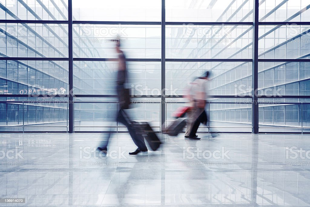 passenger in the airport royalty-free stock photo