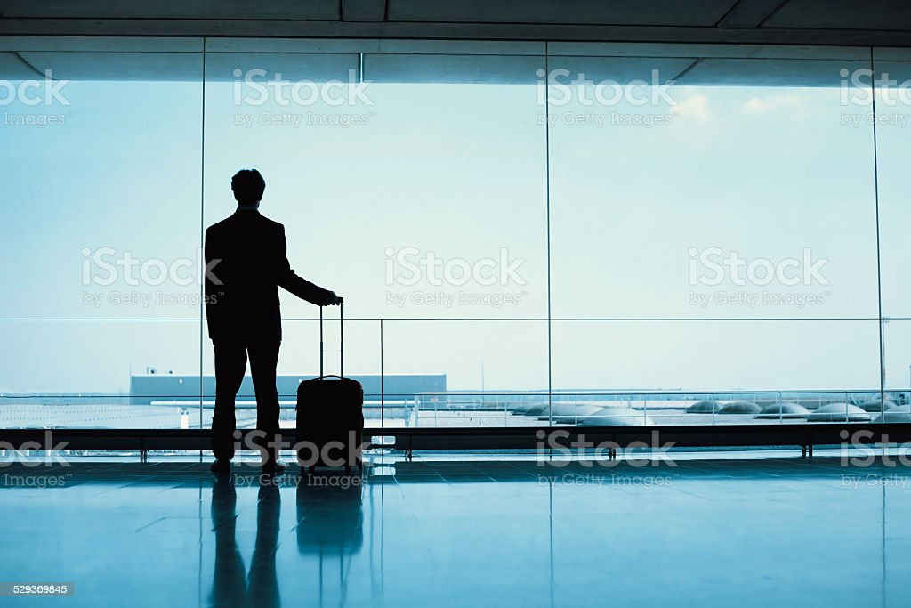 passenger in the airport stock photo