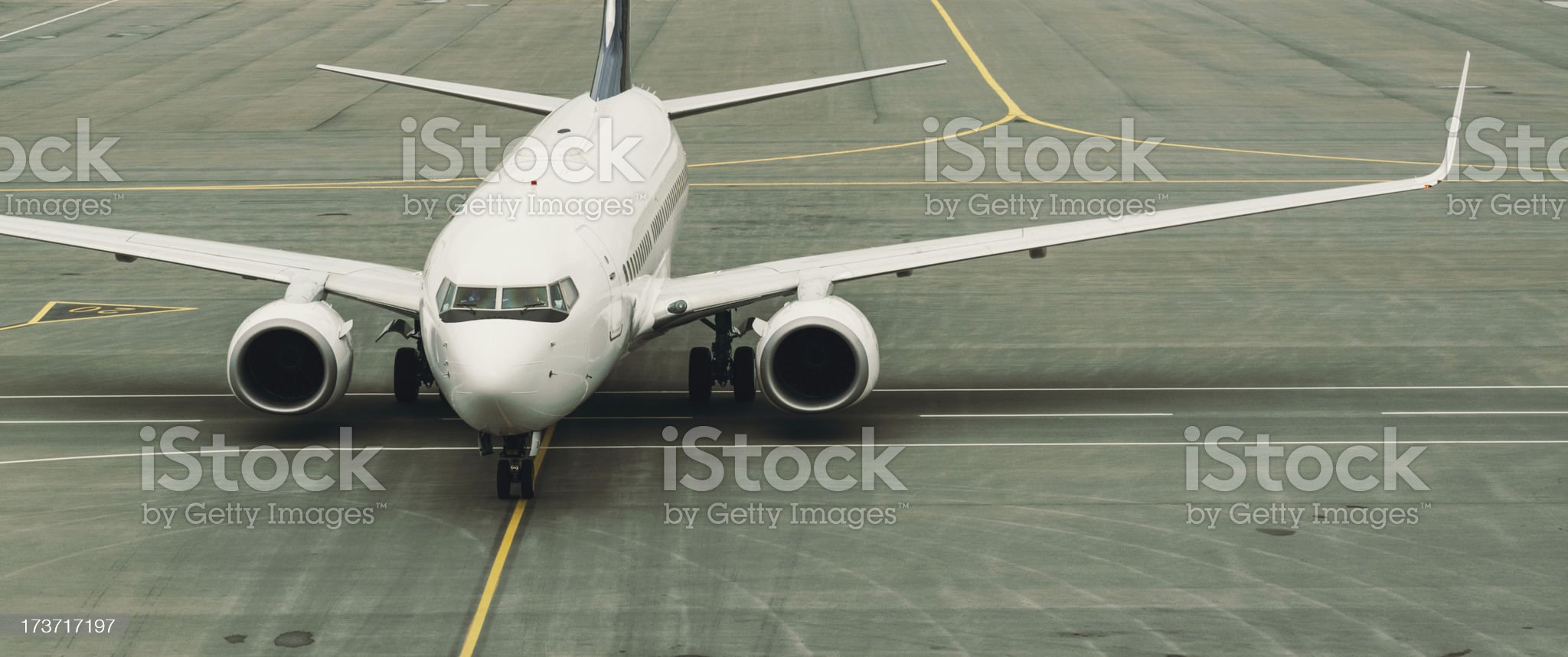 Passenger Jet on Taxiway royalty-free stock photo