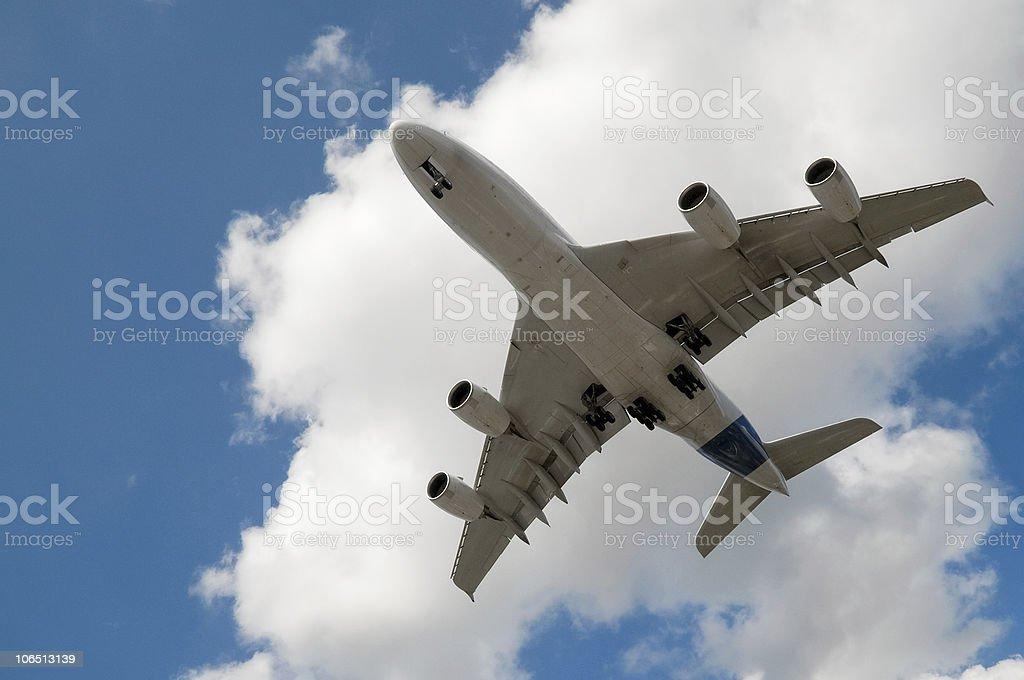 passenger jet stock photo