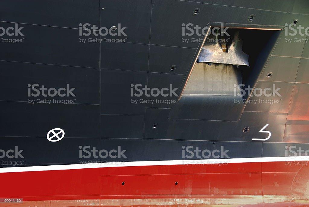 Passenger Liner - Details royalty-free stock photo