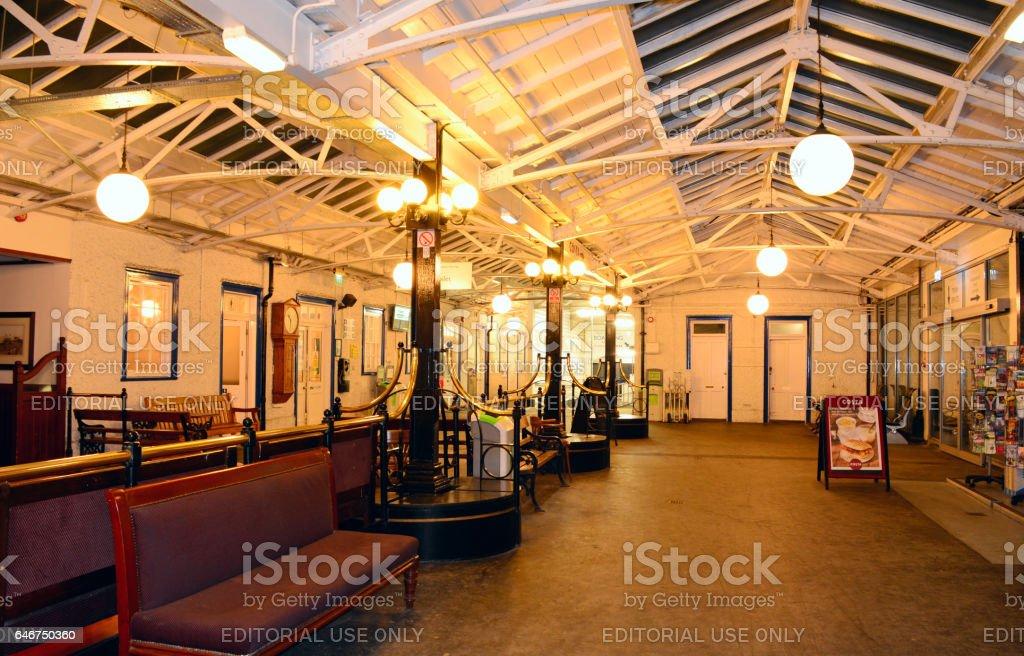 Passenger Lounge at Ryde Pier stock photo