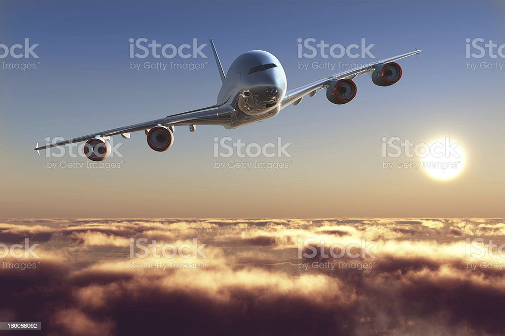 Passenger plane stock photo