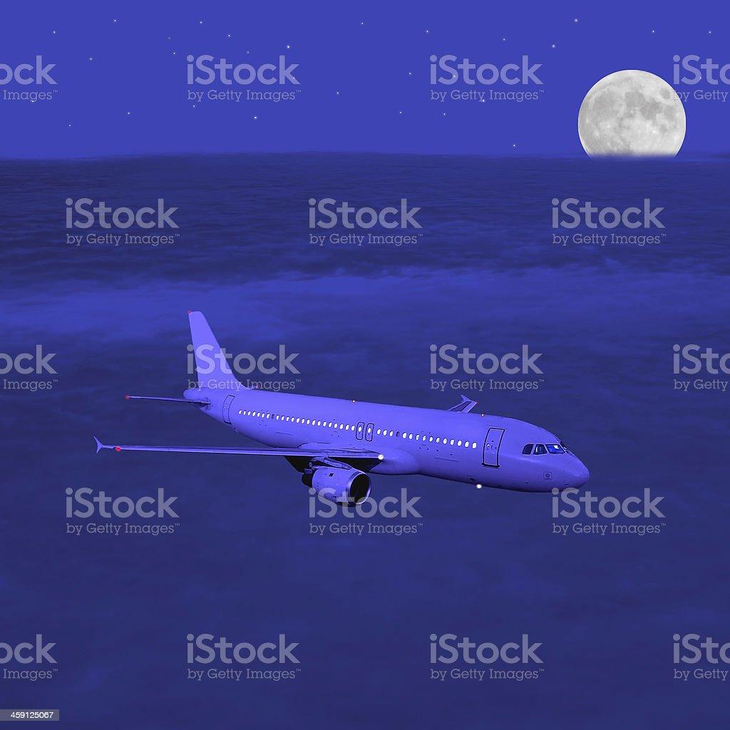 Passenger plane. royalty-free stock photo