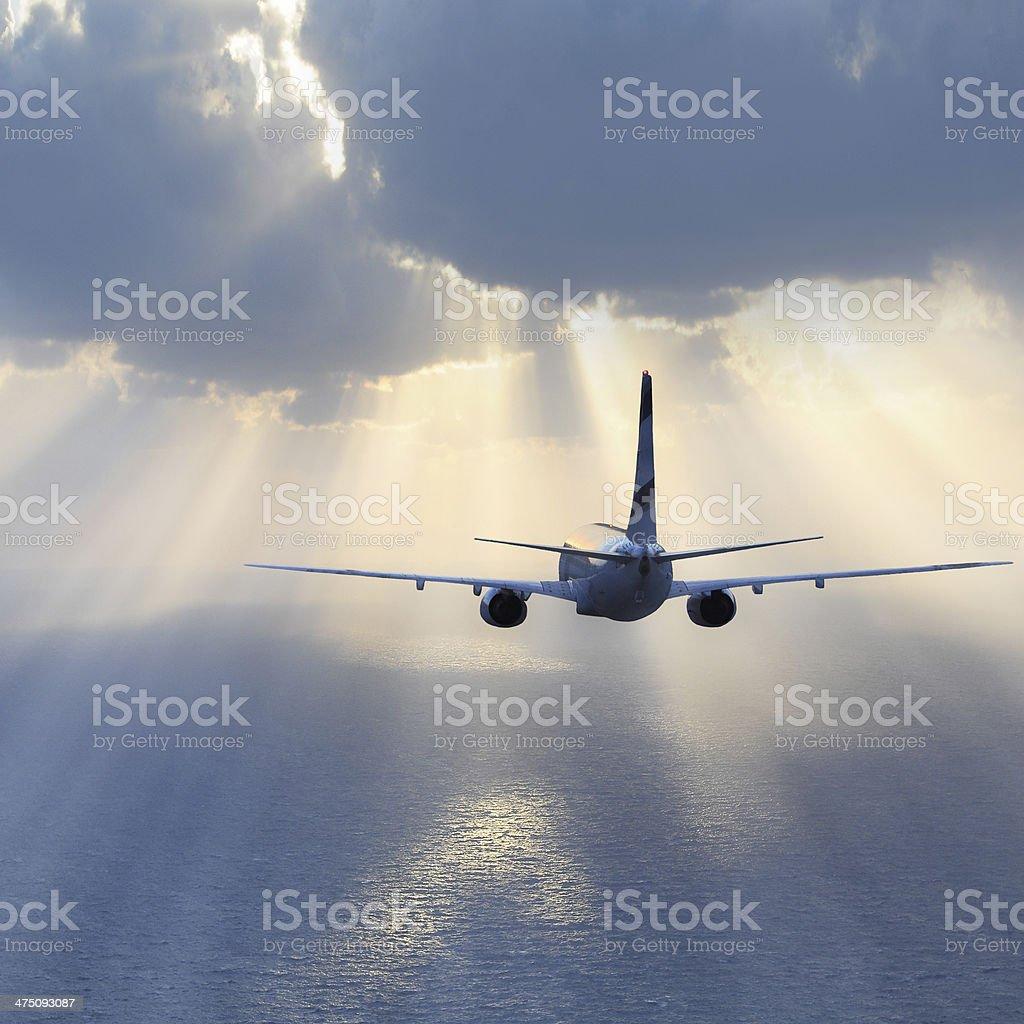 Passenger plane. stock photo