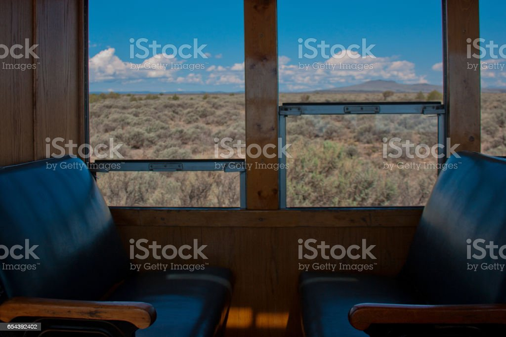 Passenger Seating on Historic Steam Engine Train stock photo