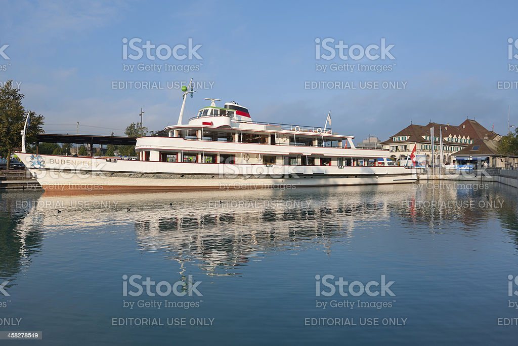 Passenger ship Bubenger at the berth in Thun royalty-free stock photo