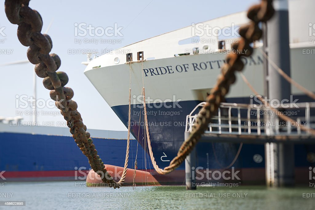 passenger ship moored in harbor, XXXL image stock photo