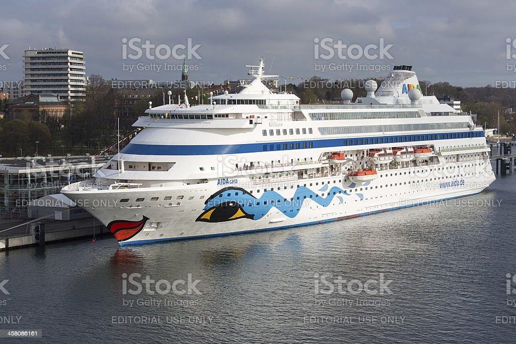 Passenger ship moored in the harbor of Kiel, Germany royalty-free stock photo