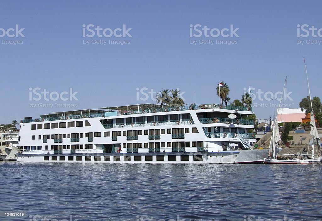 passenger ship on the Nile royalty-free stock photo