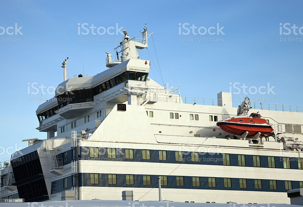 Passenger ship royalty-free stock photo