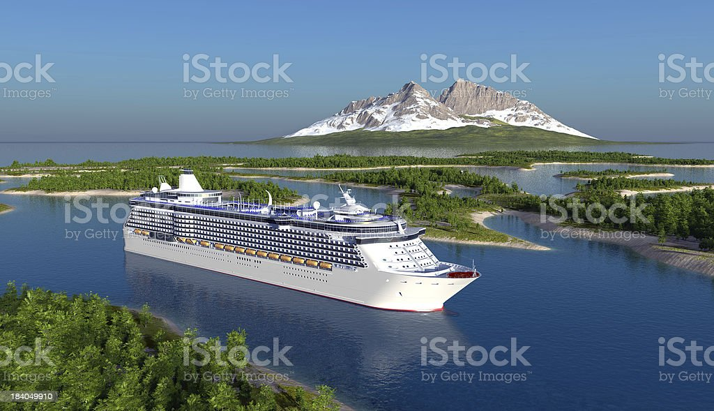 Passenger ship stock photo