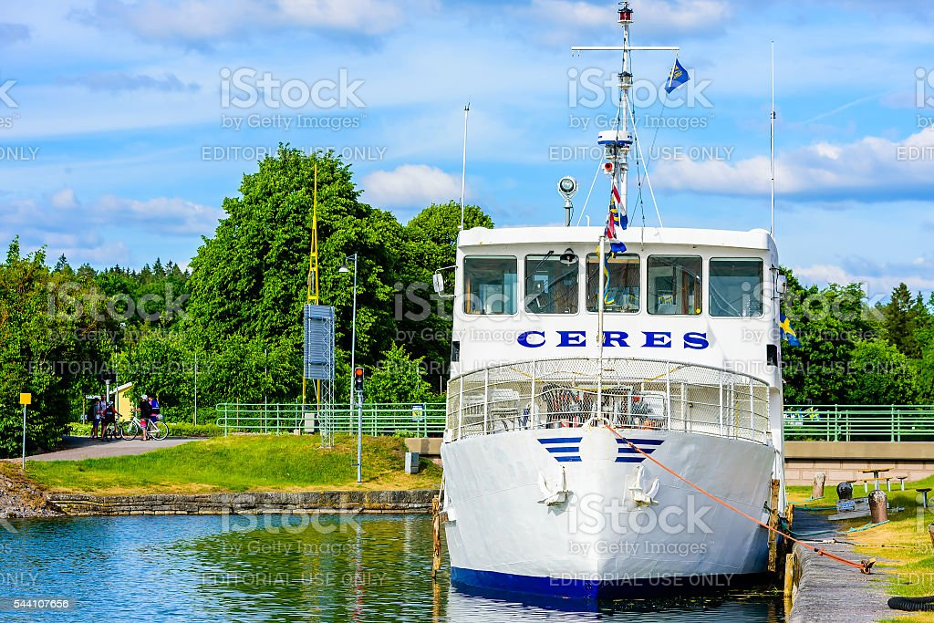 Passenger ship stock photo