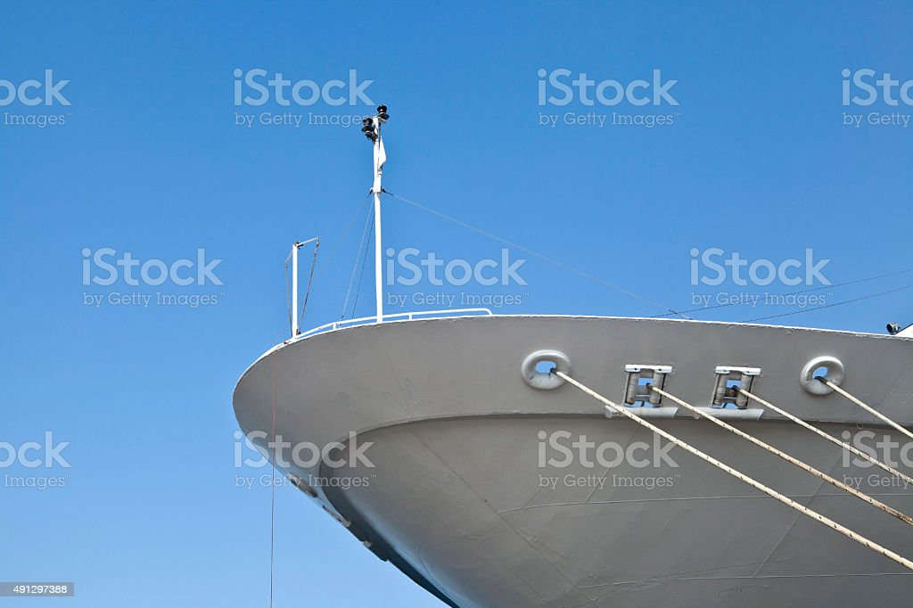 Passenger ship's bow stock photo