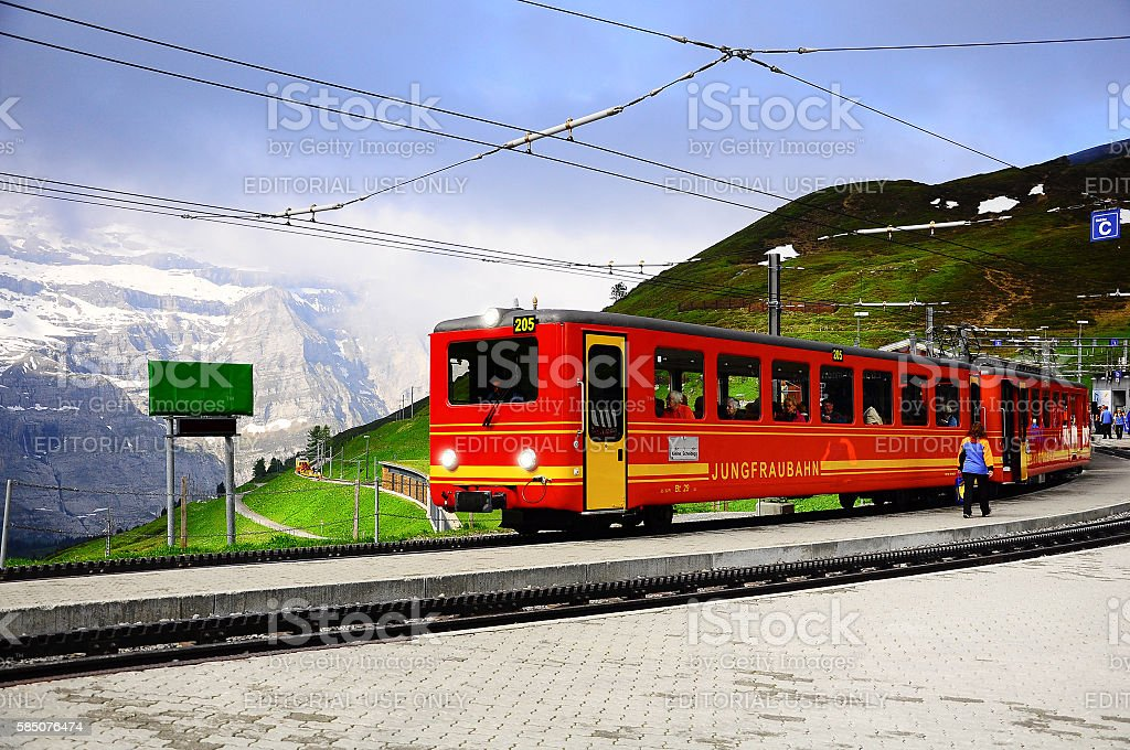 Passenger tourist train. stock photo