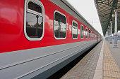 Passenger train on the platform