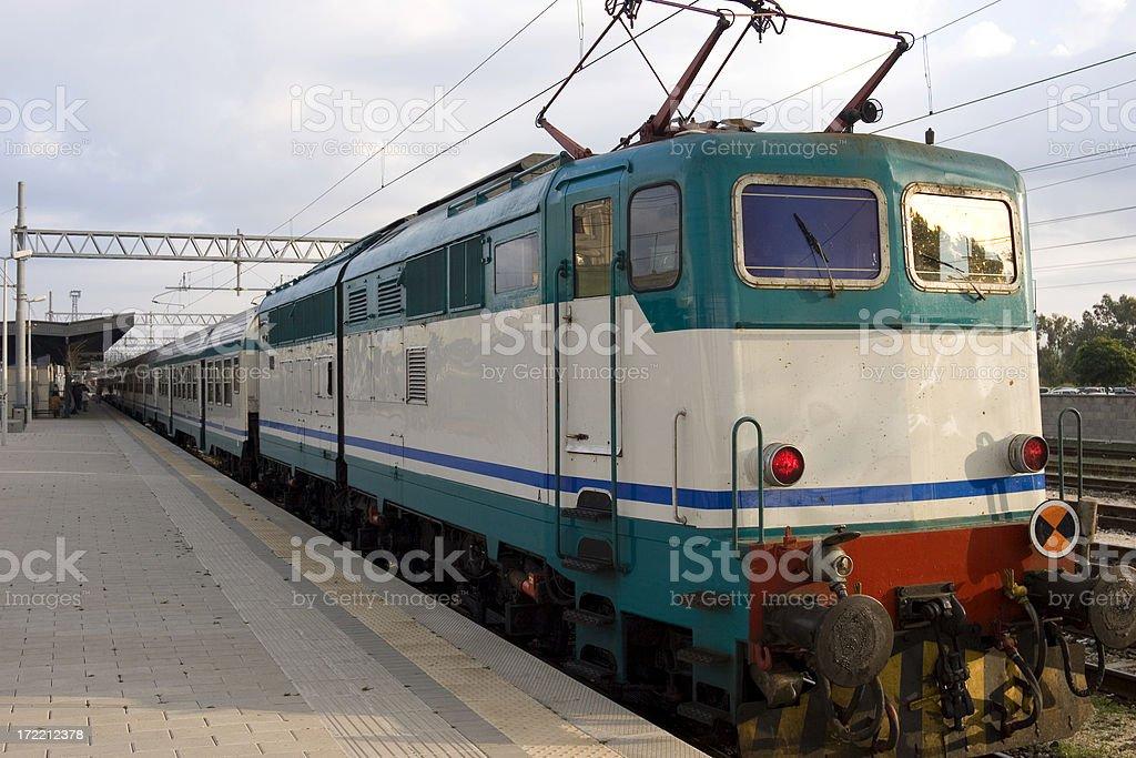 Passenger train royalty-free stock photo