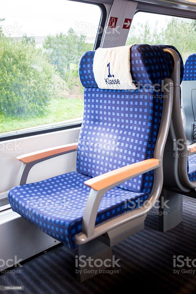 Passenger Train Seat royalty-free stock photo
