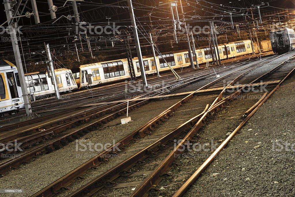 Passenger trains stock photo