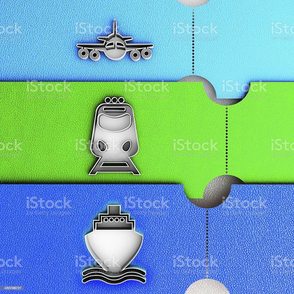 Passenger transport tickets icon royalty-free stock photo