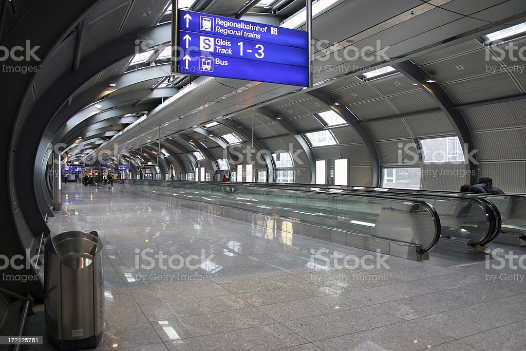 Passenger tunnel at the airport royalty-free stock photo