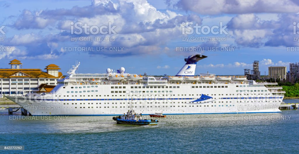 Passenger vessel MAGELLAN owned and operated by Costa Crociere in Klang port, Malaysia. stock photo