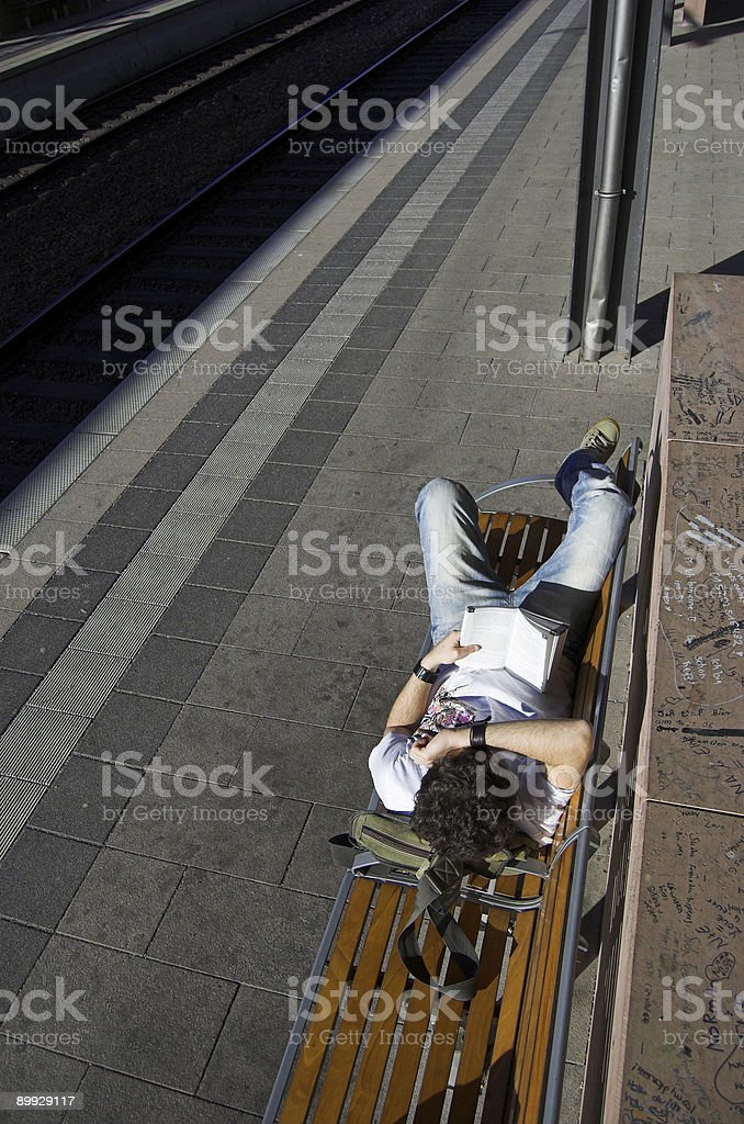 Passenger waiting royalty-free stock photo
