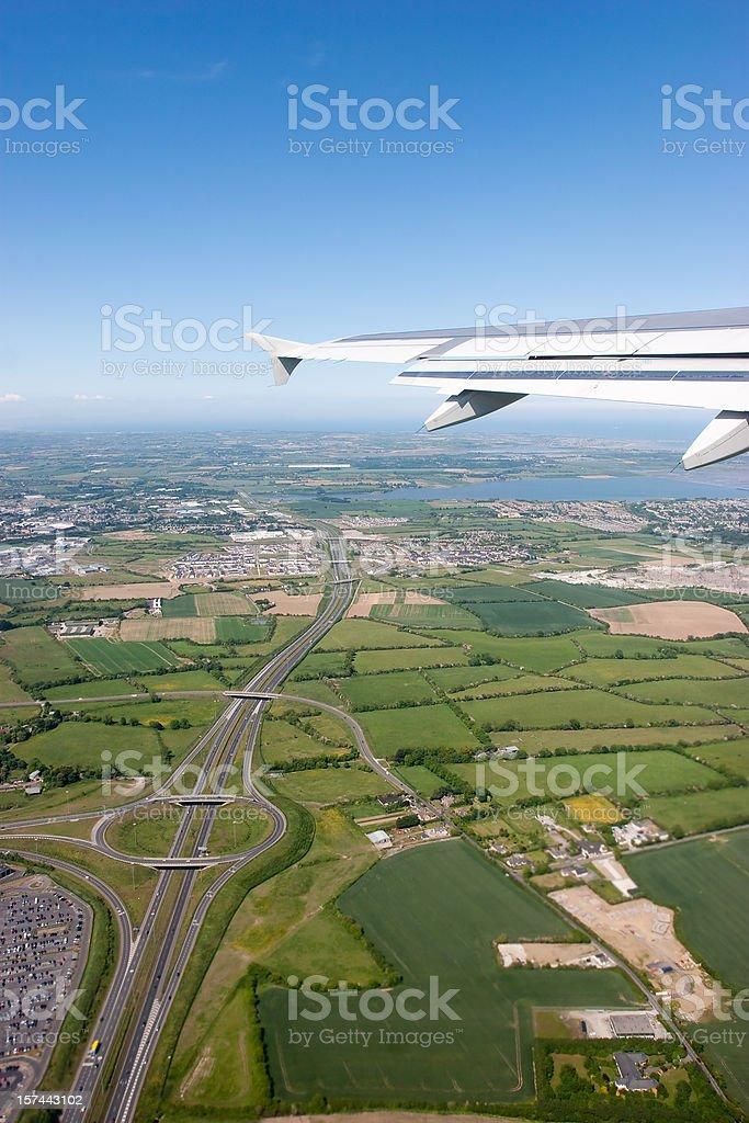 Passenger Windows View In Flight royalty-free stock photo
