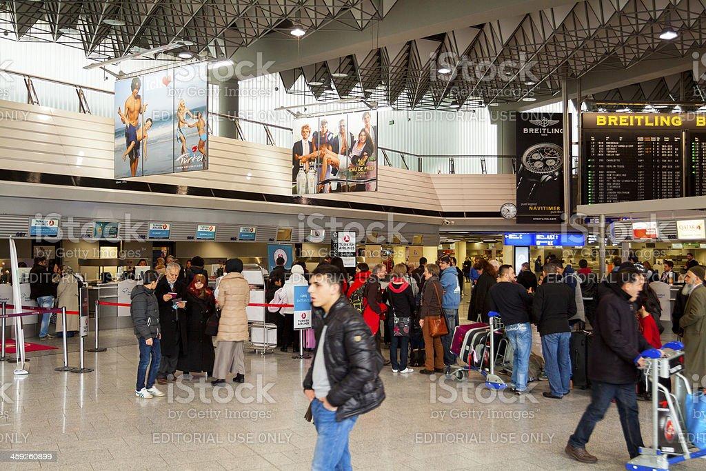 Passengers at Fraport royalty-free stock photo