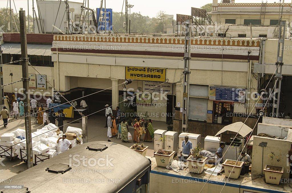 Passengers at Hyderabad Station royalty-free stock photo