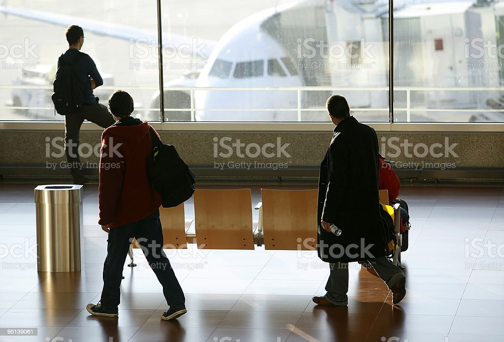 passengers at the airport royalty-free stock photo