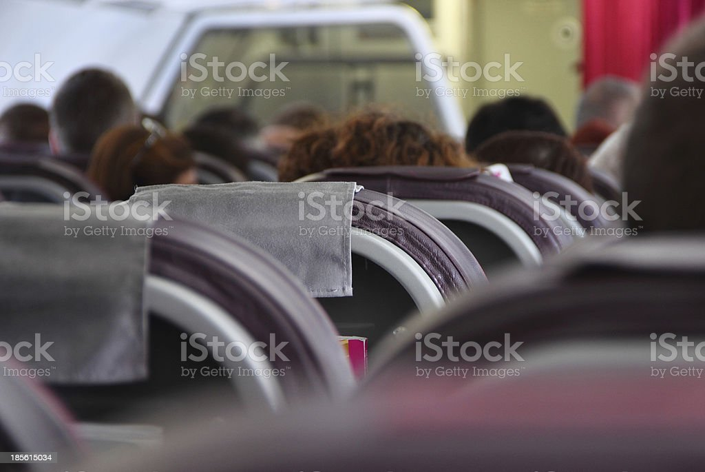 Passengers board the plane royalty-free stock photo