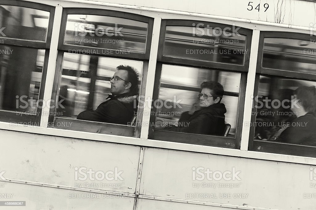 Passengers in the Tram royalty-free stock photo
